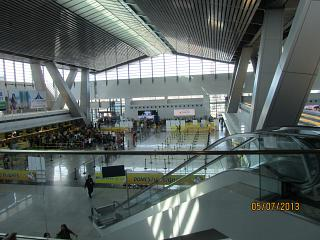 The departure lounge at the airport Manila Ninoy Aquino international