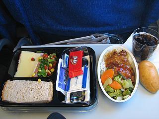 Питание на рейсе Польских авиалиний Варшава-Нью-Йорк