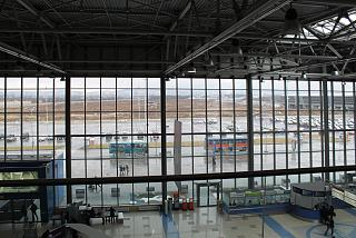 The first floor and the station area of Vladivostok airport