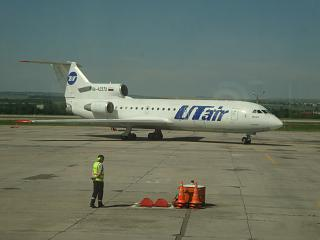 The Yak-42, Utier at the airport Mineral Water