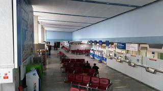Inside the terminal the airport Izhevsk