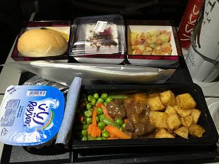 Flight meals on the flight Doha-male Qatar Airways