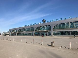 Sector B of the passenger terminal of Novosibirsk Tolmachevo airport