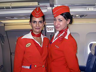Flight attendants of Aeroflot - Russian airlines