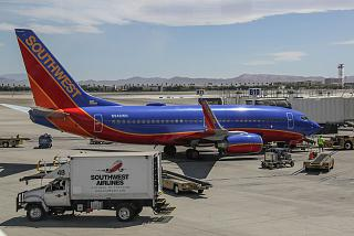 N948WN Boeing 737-700 Southwest airlines at the airport in Las Vegas