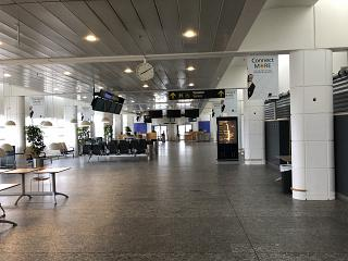 The gate in zone A of terminal 2 of Copenhagen airport Kastrup