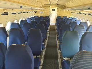 The passenger cabin of the aircraft Tu-154B-2 of the airline Malev