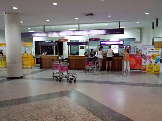Reception Thai Airways at the airport in Surat Thani