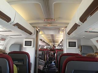 The cabin of the aircraft Boeing-757-200 of airline Icarus