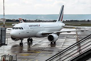 Airbus A320 of Air France at Marseille airport