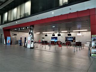 Check-in Area at Terminal A of Saransk Airport