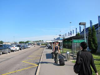 The landside area at the airport of Tallinn