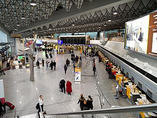 The reception area of a sector In terminal 1 of Frankfurt airport