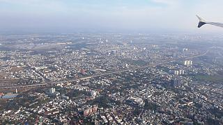 The suburbs of Ho Chi Minh city before landing at the airport Tansonnhat