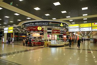 Shopping arcade in terminal E of Sheremetyevo airport