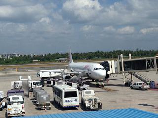 Airbus A321 авиакомпании Dragonair в аэропорту Пхукет