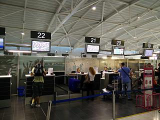 Check-in at Larnaca airport
