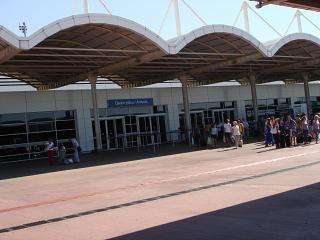 The exit from the arrivals area of Terminal 2 Antalya airport