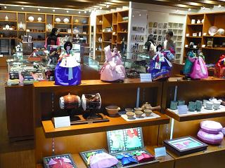 The shop of national Souvenirs at the airport Seoul Incheon