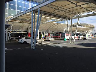 Canopies at the entrance to the passenger terminal Auckland airport