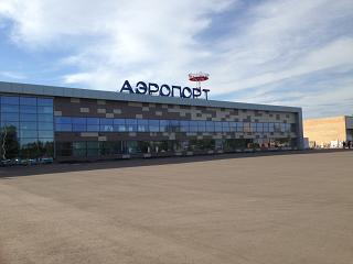 The terminal Begishevo airport serving Nizhnekamsk and Naberezhnye Chelny