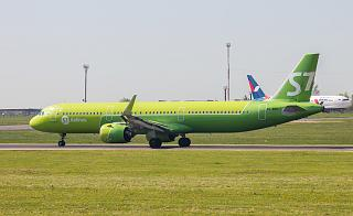 Airbus A321neo VQ-BGU of S7 Airlines at the airport of Irkutsk