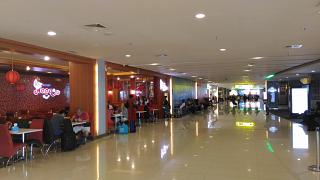 In the clean area of the domestic terminal of Denpasar airport Ngurah Rai