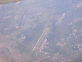Top view of the airport Nizhny Novgorod, Strigino