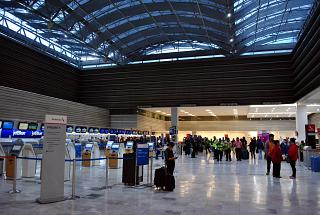 F3 hall check-in for flights in the Oneworld terminal T1 of the airport of Mexico city Benito Juarez