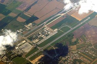 Top view on the airport Bucharest Henri Coanda