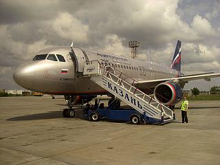 Airbus A320 of Aeroflot at the airport Kazan