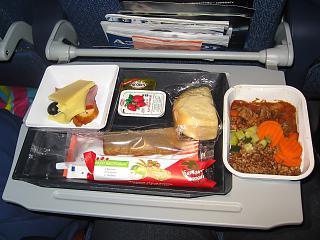 Питание на рейсе Москва-Красноярск Аэрофлота