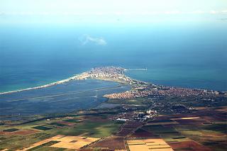 The black sea resort of Pomorie in Bulgaria