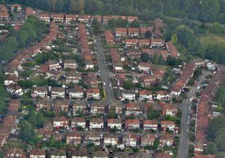 Houses in the suburbs of Manchester