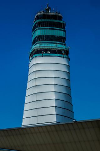 Control tower of the airport Vienna Schwechat
