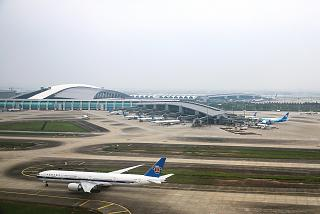 The passenger terminal of Guangzhou Baiyun international airport