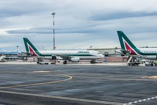 Airbus A320 Alitalia at Rome airport Fiumicino
