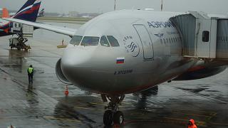 "The Airbus A330-200 ""Brodsky"" Aeroflot at Sheremetyevo airport"