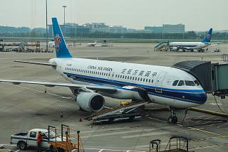 Airbus A320 B-6288 of China Southern Airlines in Guangzhou airport
