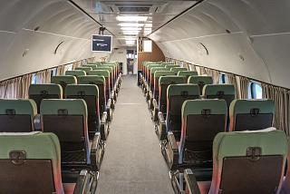 The passenger cabin of the aircraft Lockheed Konsteleyshn
