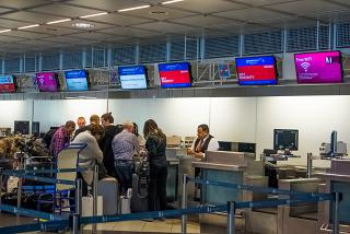 Reception in terminal 1 of Munich airport