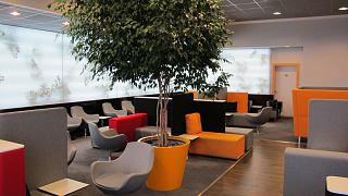 The business lounge in terminal 1 of Prague airport Vaclav Havel