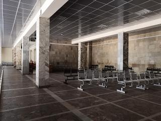 The waiting room at the airport Saratov Central