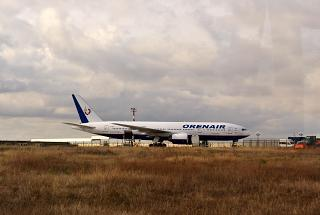 Boeing-777-200 VP-BHB airline Orenair at the airport in Simferopol