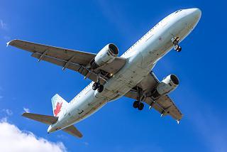 Посадка Airbus A320 авиакомпании Air Canada