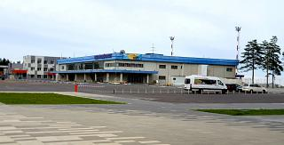 Terminal of international departures of Khabarovsk airport