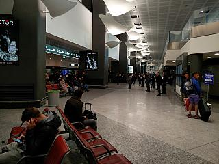 The arrival hall at the airport of Milan Malpensa
