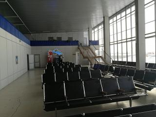 The waiting area at the airport of Bratsk