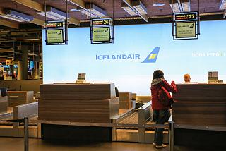 Reception at the airport Icelandair Reykjavik Keflavik