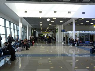The sterile area of the airport Vladivostok
